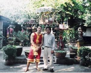 Ajarn Sila krabi-krabong teacher of kru Pedro (phramajarn Samai lineage)