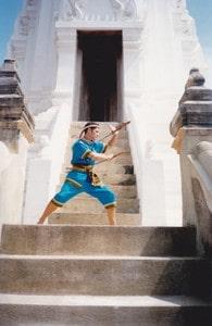 Kru Pedro at Wat Phuttaiswan in Ayutthaya