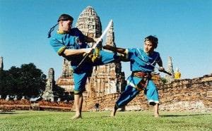 Training in Ayutthaya temple 2