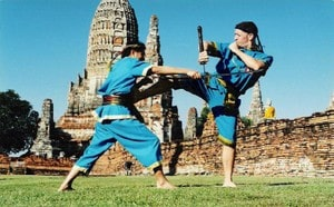 Training in Ayutthaya ancient temple
