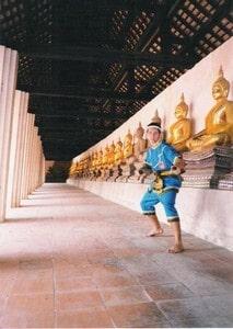 Kru Pedro at Putthai sawan temple in Ayuttayha