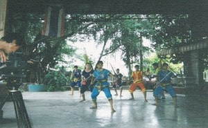 Sword training with camera