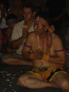 Bokator master Ajarn Sam Kim Saeng and kru Pedro