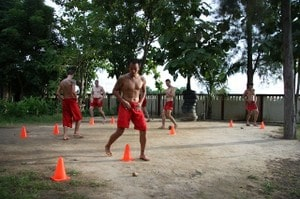 Circle footwork training
