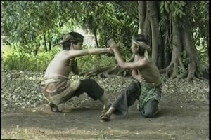 In Silat low standing positions are part of the training