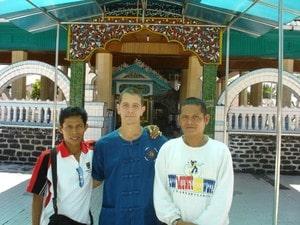 Pak Haji Sofyan Nadar and kru Pedro Solana Villalobos in Sumatra, Indonesia