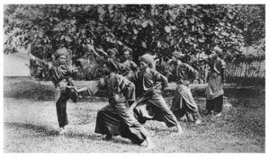 Training in nature is part of the silat tradition